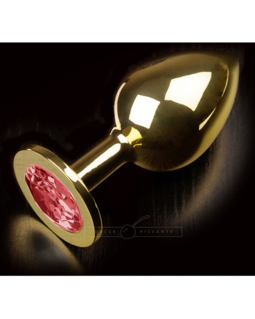 PLUG ANAL JEWELLERY LARGE ORO RUBY
