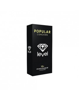 PRESERVATIVOS LEVEL POPULAR CONDOMS 10UDS
