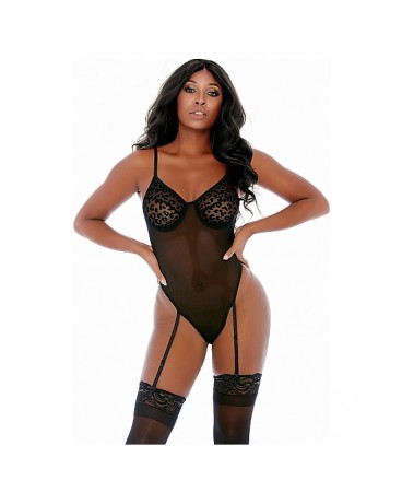 FELINE FEISTY CHEETAH CUP BODY NEGRO