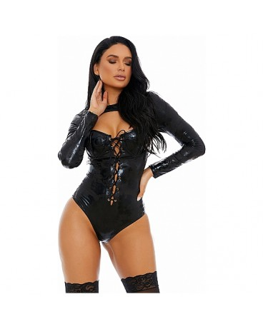 DISTRESS WITH THE BEST FAUX LEATHER BODY NEGRO