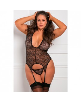 FINEST OF ALL GARTER CHEMISE - BODY CON LIGUERO