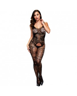 CROTCHLESS JACQUARD BODYSTOCKING - BODY MALLA