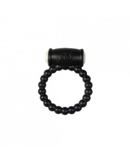 POWER RING BALLS - ANILLO VIBRADOR SILICONA NEGRO