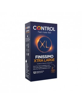 CONTROL PRESERVATIVOS FINISSIMO XTRA LARGE 12UDS