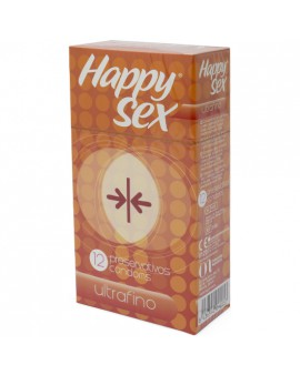 HAPPY SEX PRESERVATIVO ULTRAFINO 12 UDS