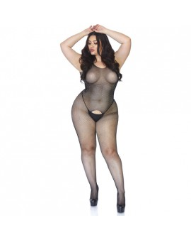 BODYSTOCKING DE RED Y DECORADO STRASS - NEGRO