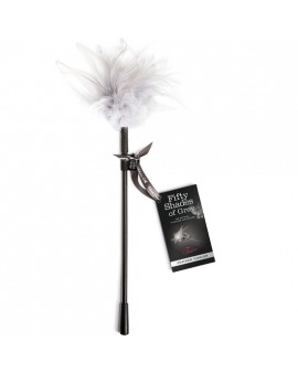 TEASE FEATHER PLUMERO BDSM - NEGRO/BLANCO
