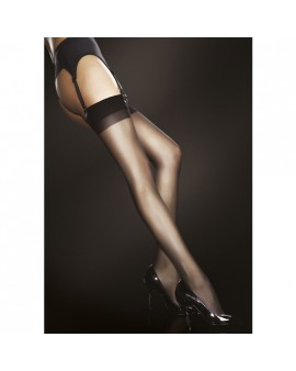 JUSTINE STOCKINGS MEDIA CON PUNTERA 20 DEN - NEGRO