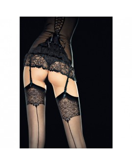 VESPER STOCKINGS MEDIAS CON DETALLE 20 DEN - NEGRO