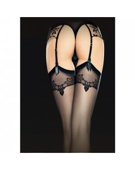 ECLIPSE STOCKINGS MEDIAS ESTAMPADO 20 DEN - NEGRO