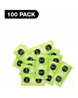 PRESERVATIVOS EXS RIBBED, DOTTED & FLARED - 100 PACK