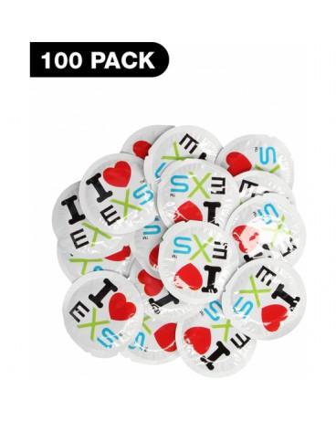 PRESERVATIVOS I LOVE EXS 100 PACK