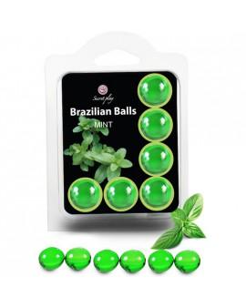 SECRET PLAY SET 6 BRAZILIAN BALLS AROMA MENTA