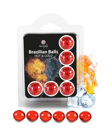 SECRET PLAY SET 6 BRAZILIAN BALLS EFECTO HOT COLD