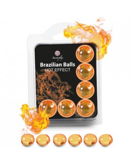 SECRET PLAY SET 6 BRAZILIAN BALLS EFECTO CALOR
