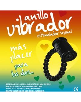 ANILLO VIBRADOR RETARDANTE NEGRO RAINBOW