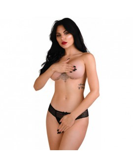 DARING ROXANNE CROTCHLESS STRING-NEGRO