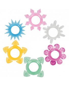 ANILLOS TOWER OF POWER 6 PACK MULTI COLORES