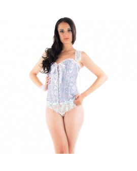 CARAMEL NUIT - SET DE CORSET CON TANGA A JUEGO + ESPOSAS + ANTIFAZ + TANGA LOVE & DREAM