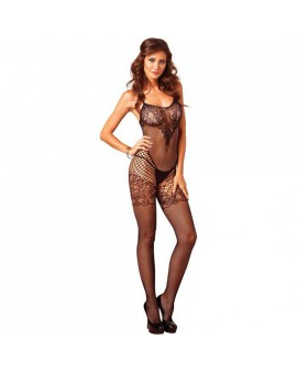 LEG AVENUE BODY DE RED SIN COSTURAS NEGRO