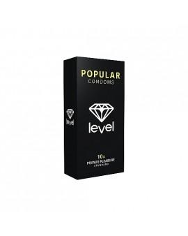 PRESERVATIVOS LEVEL POPULAR CONDOMS - 10UDS
