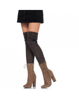 LEG AVENUE CALCETINES ALTOS CON LAZO SATEN