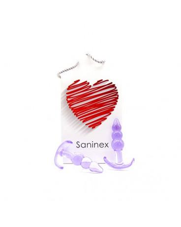 SANINEX PLUG INITIATION 3D PLEASURE ECONOMIC LINE MORADO