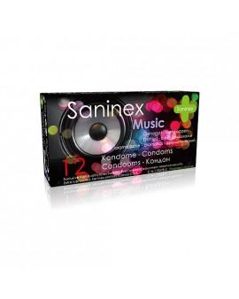 SANINEX PRESERVATIVOS MUSIC PUNTEADOS 12UDS