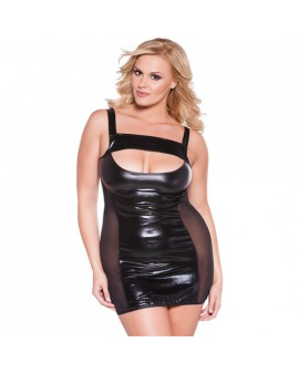 KITTEN PLUS VESTIDO TRANSPARENCIAS NEGRO