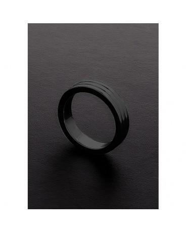 GOLDEN BLACK RIBBED C RING 10X45MM