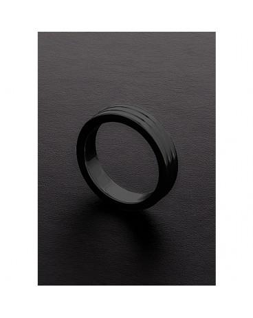GOLDEN BLACK RIBBED C RING 10X50MM