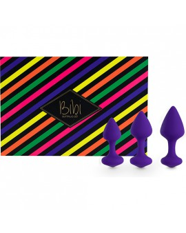 FEELZTOYS - BIBI KIT DE 3 PLUGS SILICONA - MORADO