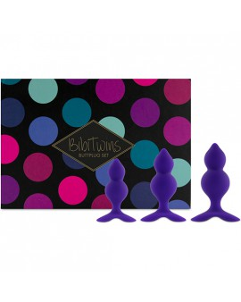 FEELZTOYS - BIBI TWIN SET DE 3 PLUGS ANALES - MORADO